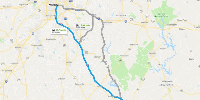 I 75 is the main route between Atlanta and Macon