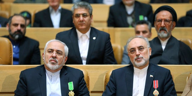 Foreign Minister Mohammad Javad Zarif and Iran's Atomic Energy Organization Ali Akbar Salehi were awarded the medal of honor by President Hassan Rouhani.