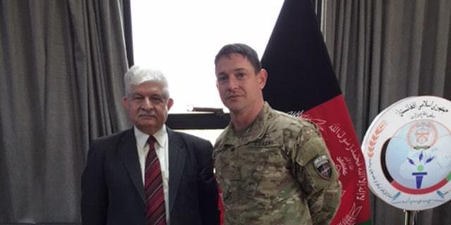 Gen. Dawlat Waziri, left, with Auchey