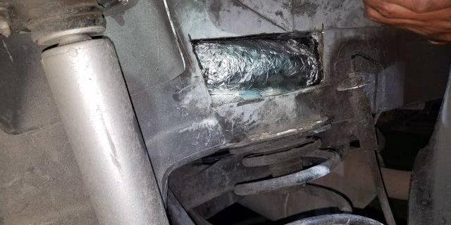 Meth found inside a Chevy Malibu that was going from Mexico to El Paso.