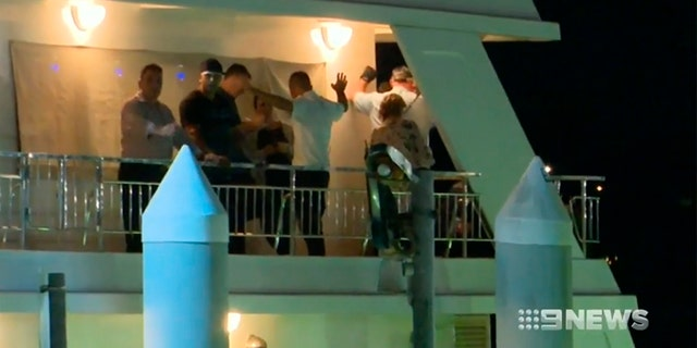 A fight then broke out on board and the birthday girl was allegedly pushed down the stairs as a result.