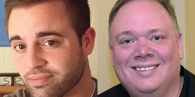 Former country singer Austin C. Rick, left, is writing a book about his experience with disgraced Nashville publicist Kirt Webster, right.