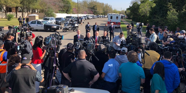 Austin Police Chief Brian Manley, speaks at a news conference for the latest bombing in Austin, Texas, U.S., March 19, 2018.