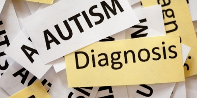 """Snippets of paper reading """"Autism Diagnosis"""" on them."""