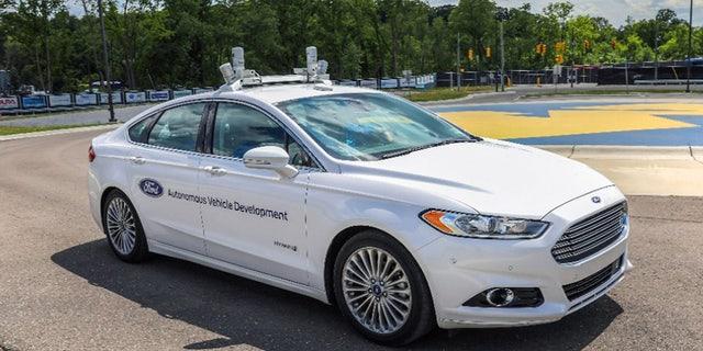 Autonomous Ford Fusion test vehicle