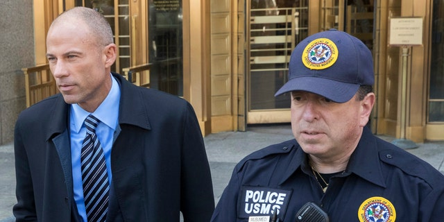 Lawyer for adult film star Stormy Daniels, Michael Avenatti, left,  motioned to join the criminal investigation into Cohen, saying documents obtained in an FBI raid of his properties could be related to his client.