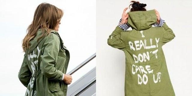 Melania Trump's jacket raised eyebrows on Thursday, June 21, 2018.