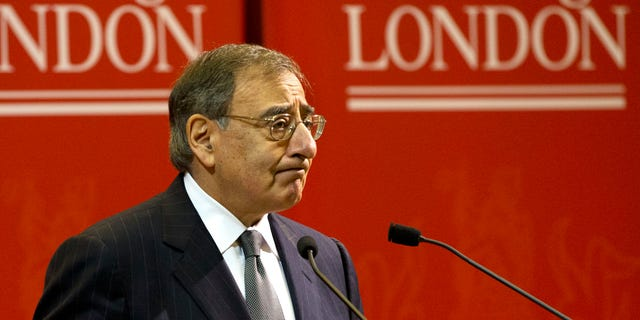 """U.S. Defense Secretary Leon Panetta speaks about the situation in Algeria, at the start of his remarks during a visit to King's College in London on Friday, Jan. 18, 2013, saying there will be """"no quarter for terrorists in North Africa."""" (AP Photo/Jacquelyn Martin)"""