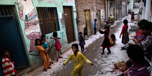 Hundreds of Pakistani children have tested positive for HIV this year. (AP Photo/Muhammed Muheisen)