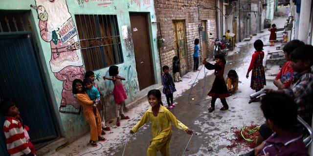 Hundreds of Pakistani children have tested certain for HIV this year. (AP Photo/Muhammed Muheisen)
