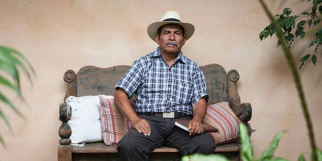 In this April 18, 2017 photo, Maya Q'eqchi leader Rodrigo Tot poses for photos during an interview in Guatemala City. Tot, a 60-year-old Guatemalan farmer and activist, has been awarded the prestigious Goldman Environmental Prize for his work in Latin America, a region where two past Latin American winners have been murdered in the last year. (AP Photo / Moises Castillo)
