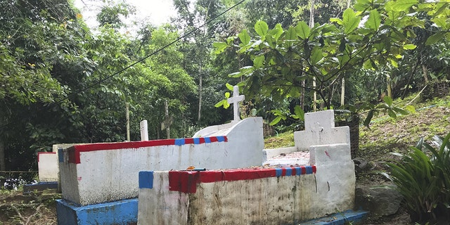 Christian graves in Kayin State, Burma, home to many of the country's religious minorities.