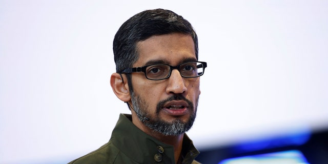 Google CEO Sundar Pichai is seen above.