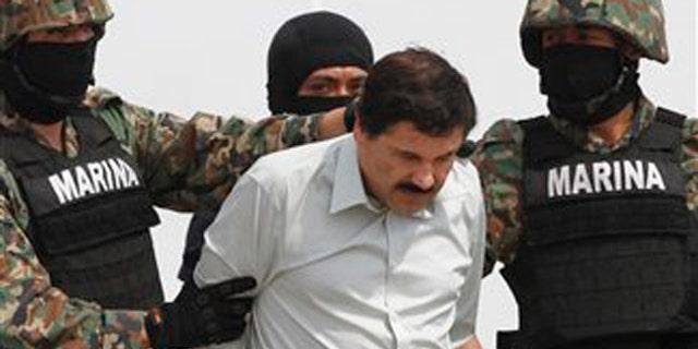"""File photo - Joaquín """"El Chapo"""" Guzmán in custody (AP)"""
