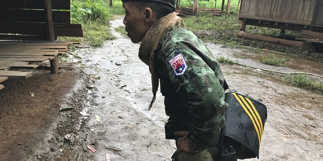A Karen soldier in Kayin, Burma