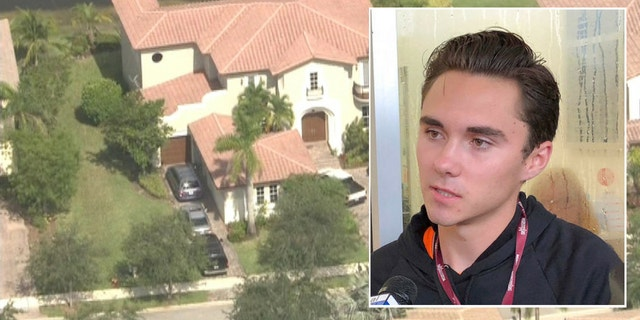 Parkland activist David Hogg's home was swarmed with police officers Tuesday morning after authorities received a prank call.