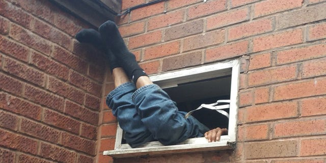 Nov. 2, 2017: Police in England say this is what they found when they responded to a burglary in progress call.