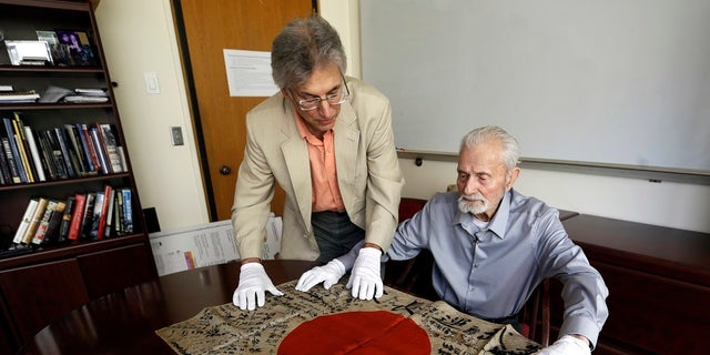 WWII veteran Marvin Strombo will return a flag from a dead Japanese soldier more than 70 years ago.