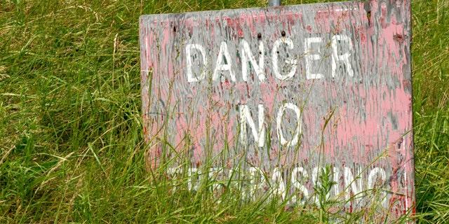 Danger - No Trespassing Sign
