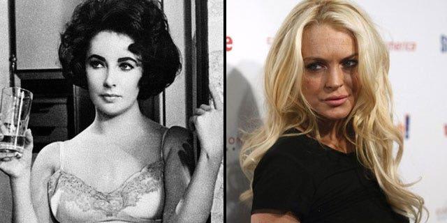Would Lindsay Lohan (right) make a good Liz Taylor? (AP)