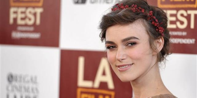 "Keira Knightley arrives at the premiere of ""Seeking a Friend for the End of the World"" at Regal Cinemas LA Live on Monday June 18, 2012 in Los Angeles. (Photo by John Shearer/Invision/AP)"