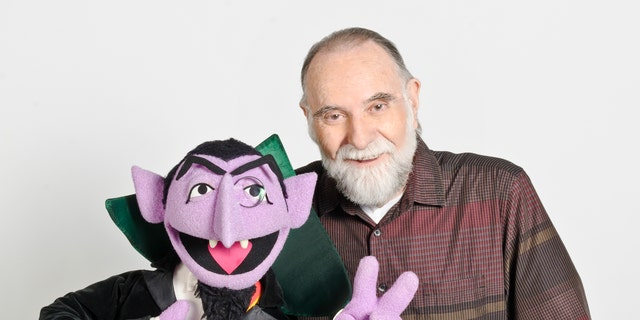"""In this June 2012 publicity photo released by """"Sesame Street,"""" puppeteer Jerry Nelson is shown with """"Sesame Street"""" character Count von Count in New York. Sesame Workshop announced that Nelson, who suffered from emphysema, died at age 78 on Thursday, Aug. 23, 2012, in his Massachusetts home on Cape Cod. (AP Photo/Sesame Workshop, Gil Vaknin)"""