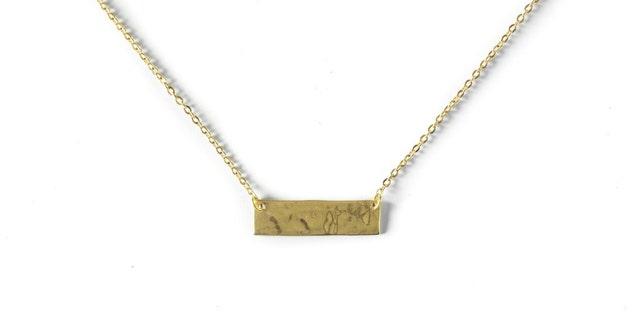 Brass .50 Caliber Bar Necklace