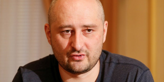 Russian dissident journalist Arkady Babchenko speaks during an interview with foreign media in Kiev, Ukraine May 31, 2018.