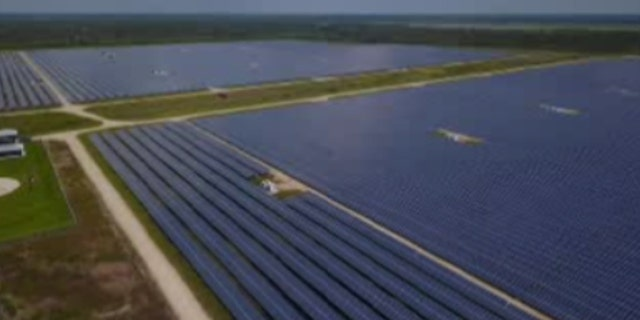 Babcock Ranch, near Fort Myers on state's west coast, was developed from the beginning with a massive solar power farm generating 100 percent of the electric needs. About 350,000 photovoltaic solar panels stretch across a swath of land the size of 200 football fields.
