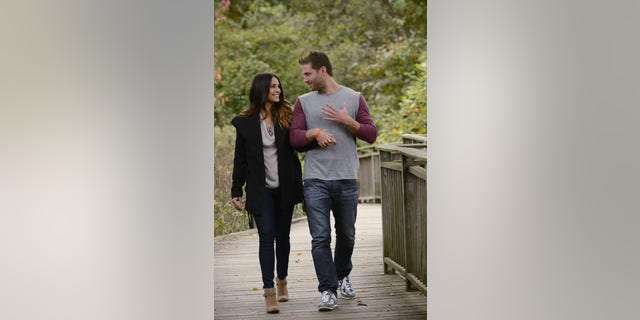 """Andi and Juan Pablo are seen during their date on """"The Bachelor."""""""