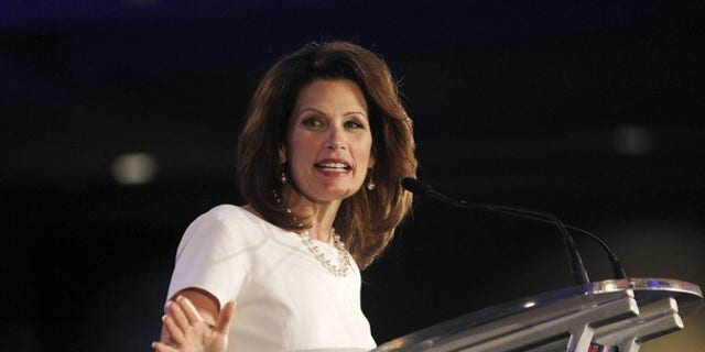 June 17: U.S. Rep. Michele Bachmann, R-Minn., speaks during the Republican Leadership Conference in New Orleans.