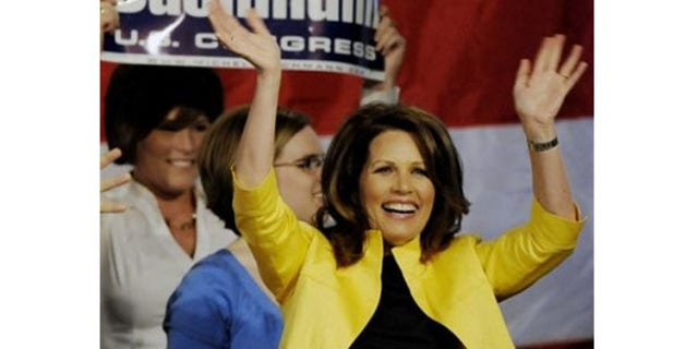 FILE: Rep. Michele Bachmann, R-Minn., a popular figure among the Tea Party movement and conservative blogosphere, is a featured speaker at the RightOnline convention in Las Vegas this weekend. (AP)