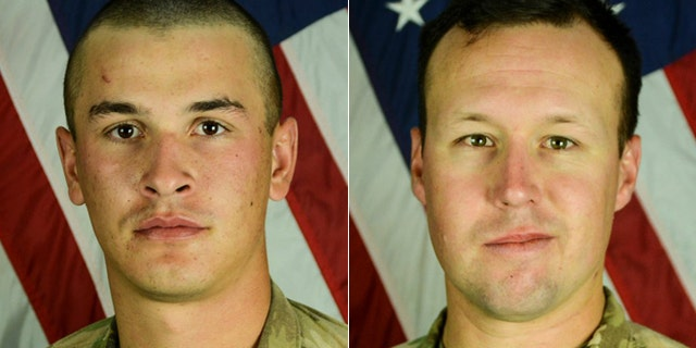 The attack killed Pfc. Tyler R. Iubelt, left, and Sgt. John W. Perry.