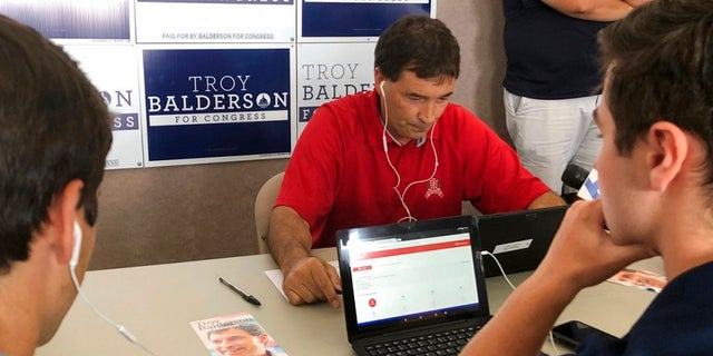 Ohio congressional candidate Troy Balderson campaigned Tuesday as the GOP hopes to hold onto the hotly contested 12th Congressional District.