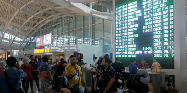 Thousands of travelers have been stranded at Bali's main airport amid warnings that Mount Agung could erupt at any moment.
