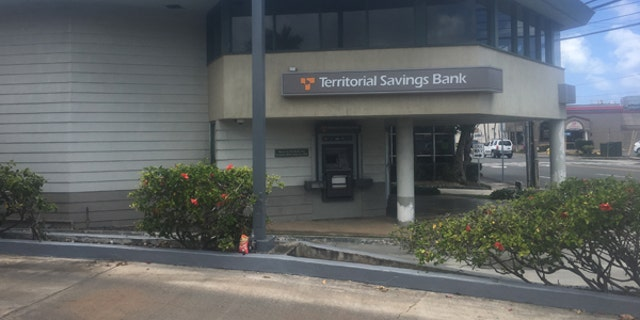Territorial Savings Bank in Kailua town is one of the three fallout shelters listed for the 53,555 people living in this beachside community on Oahu. This is the town where President Obama stays with his family over the Christmas holiday.