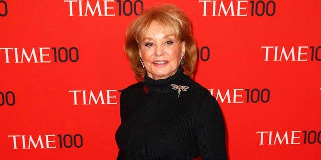 Barbara Walters arrives at the 2014 Time 100 gala.