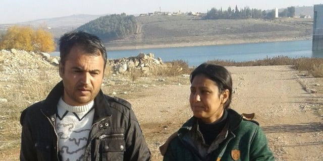 Barin Kobani and her brother Ahmed, who saw the graphic video online before learning that it was his younger sister.
