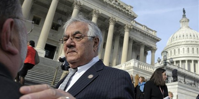 Jan. 3, 2013: Rep. Barney Frank stands outside the Capitol during his last day in Congress.