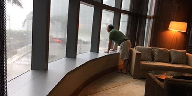 Watching Irma as it roared through Miami.