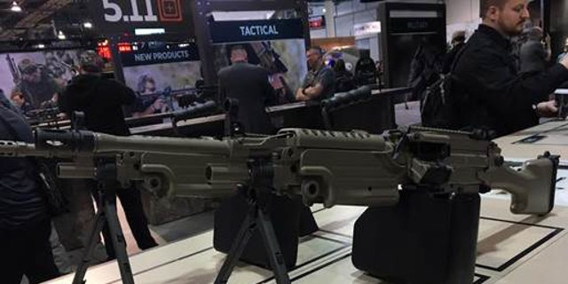 File photo - a weapon on display at SHOT Show 2017 (Allison Barrie)