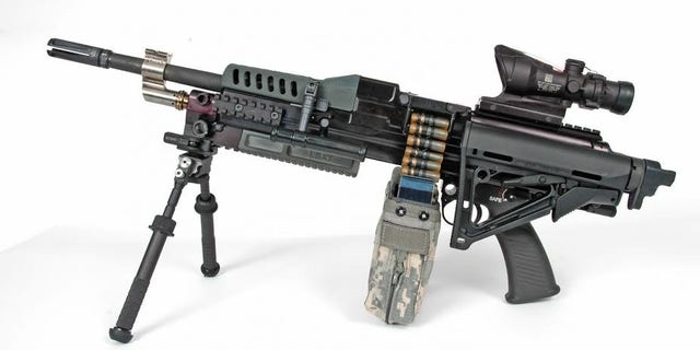File photo - Textron Systems' 5.56 mm Cased-Telescope LSAT light machine gun (Textron Systems)