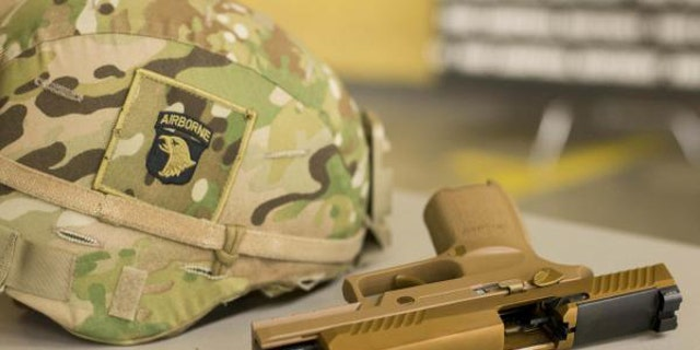 Soldiers from the 101st Airborne Division are among the first to get their hands on the new pistol. (101st Airborne/U.S. Army)