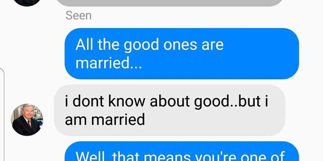 Another screenshot of a message where Barton said he was married.