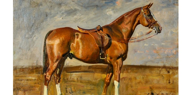 Baruch commissioned British impressionist Sir Alfred Munnings to paint her favorite horse.