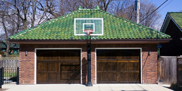 If the hoop is anchored into the driveway, the hoop stays.
