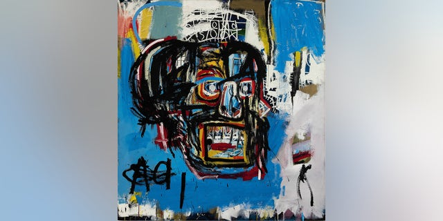 This undated image shows Jean-Michel Basquiat's 1982 painting 'Untitled,' which fetched $110.5 million at auction Thursday, May 18, 2017