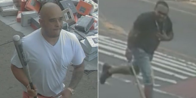 Two men are wanted for attacking a 32-year-old on a New York City sidewalk.