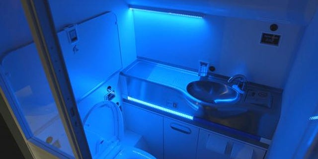 An image of Boeing's proposed self-cleaning jet lavatories.