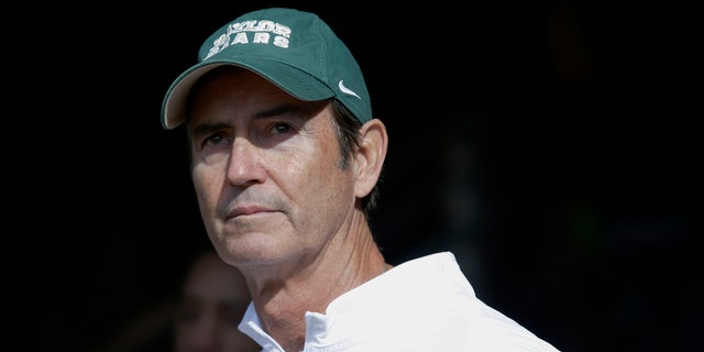 Dec. 5, 2015: Baylor coach Art Briles stands in the tunnel before the team's game against Texas in Waco, Texas.